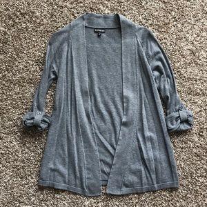 XS Express Cardigan Gray Sweater
